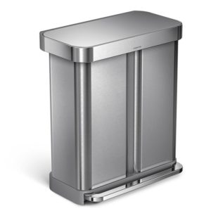 Simplehuman Stainless Steel Dual Compartment Trash Can