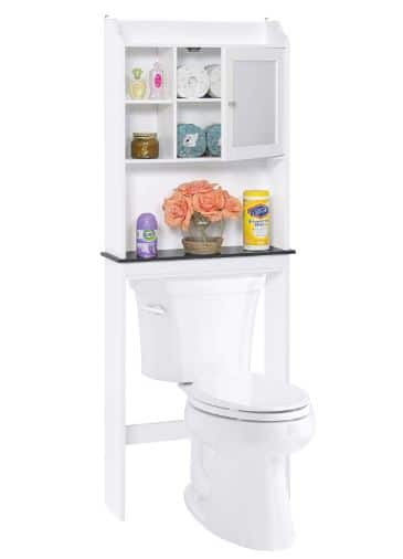 Over-The-Toilet Space Saver Organization Wood Storage Cabinet for Home, Bathroom